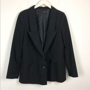 Zara black oversized boyfriend two-button blazer